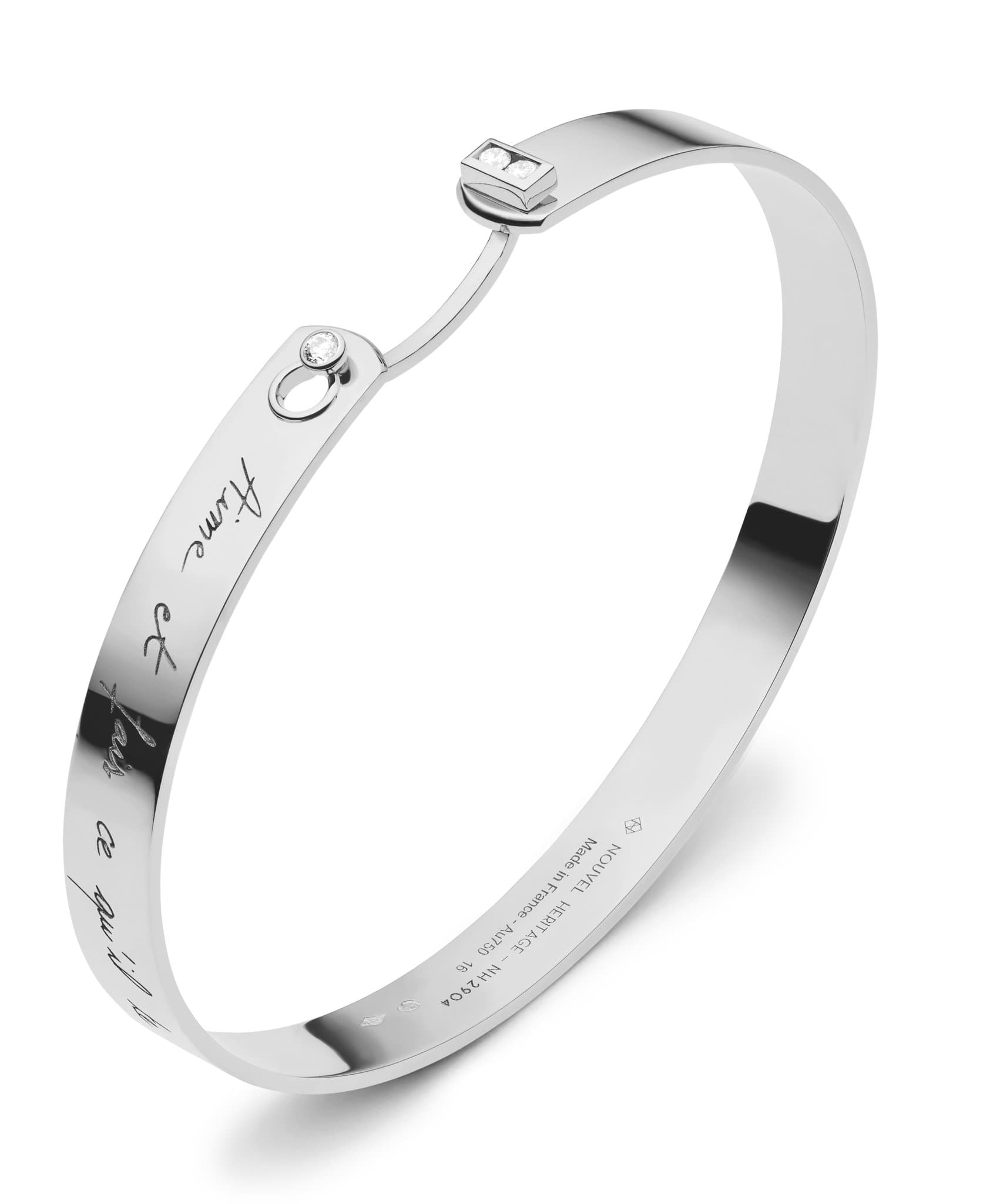 Me Time Mood Bangle: Discover Luxury Fine Jewelry | Nouvel Heritage || White Gold