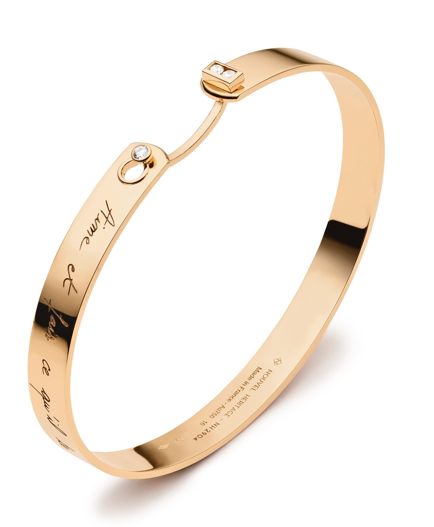 Me Time Mood Bangle: Discover Luxury Fine Jewelry | Nouvel Heritage || Yellow Gold