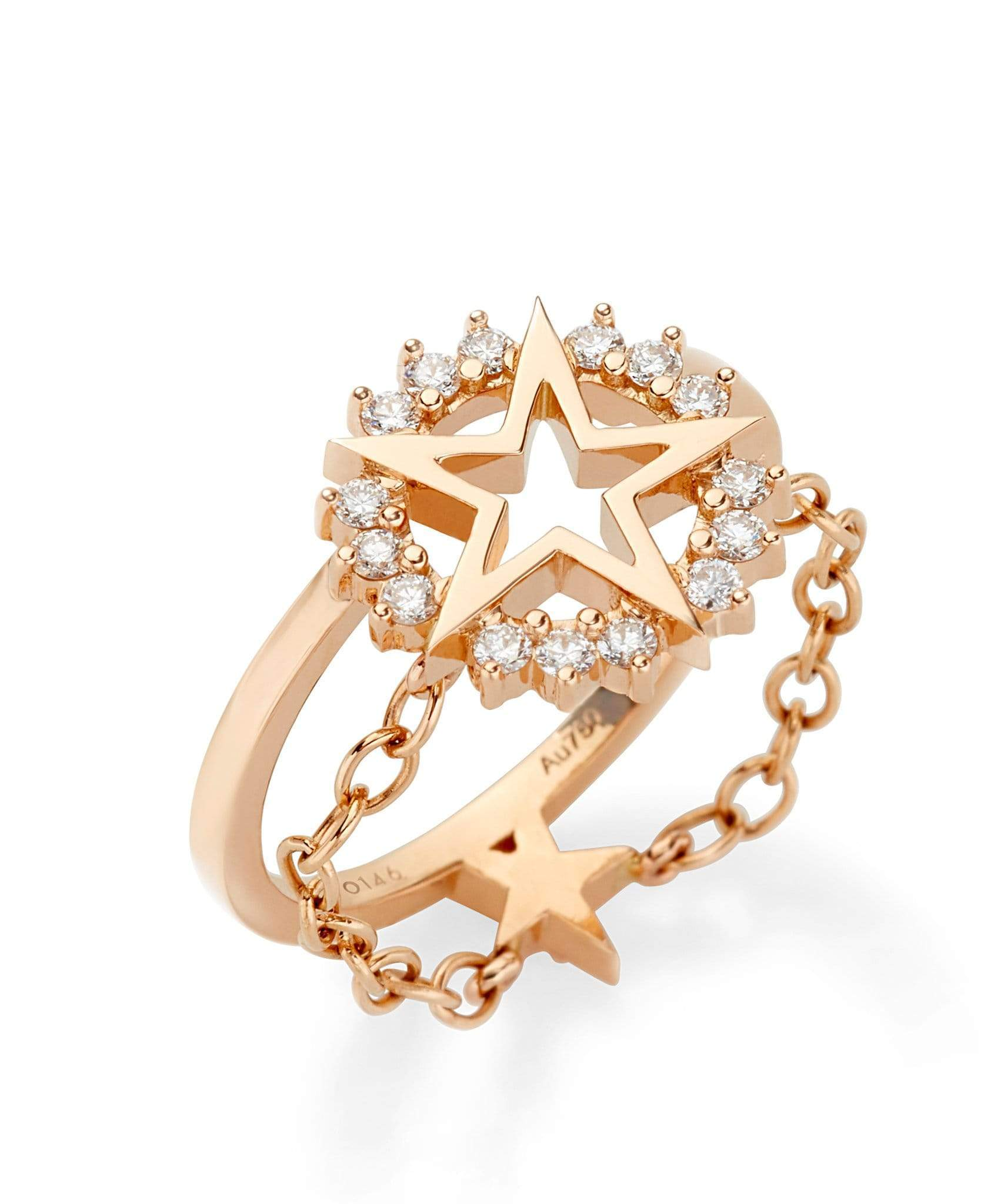 Medium Star Ring: Discover Luxury Fine Jewelry | Nouvel Heritage || Rose Gold