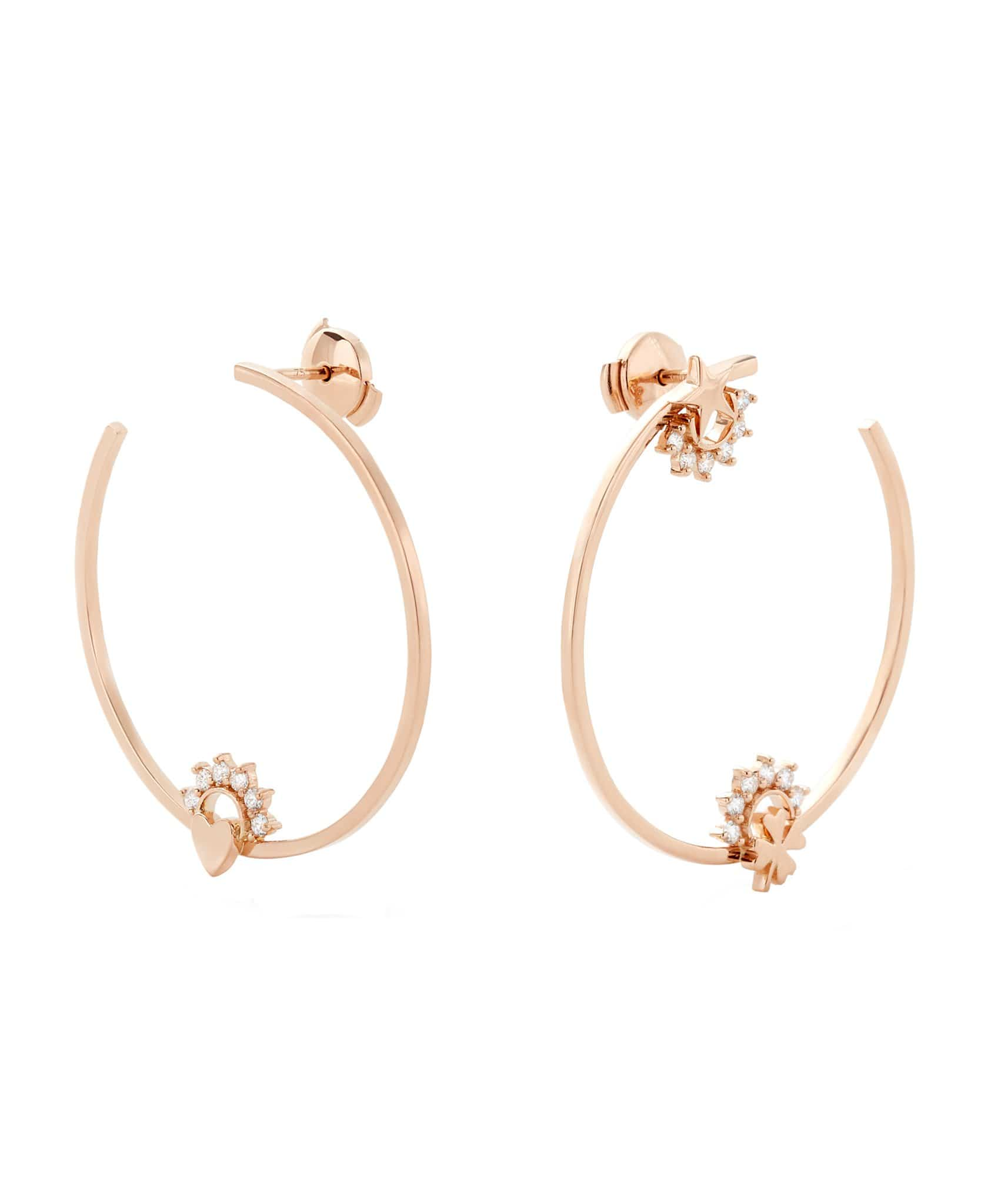 Motifs Hoops: Discover Luxury Fine Jewelry | Nouvel Heritage || Rose Gold