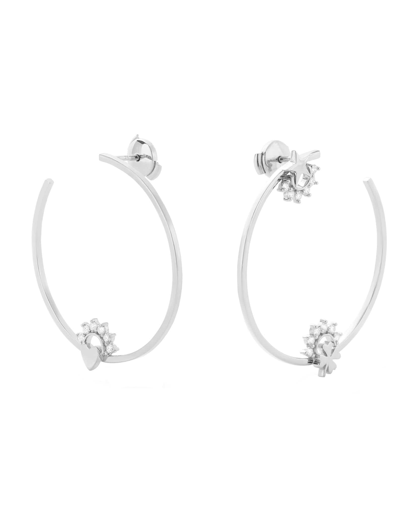 Motifs Hoops: Discover Luxury Fine Jewelry | Nouvel Heritage || White Gold