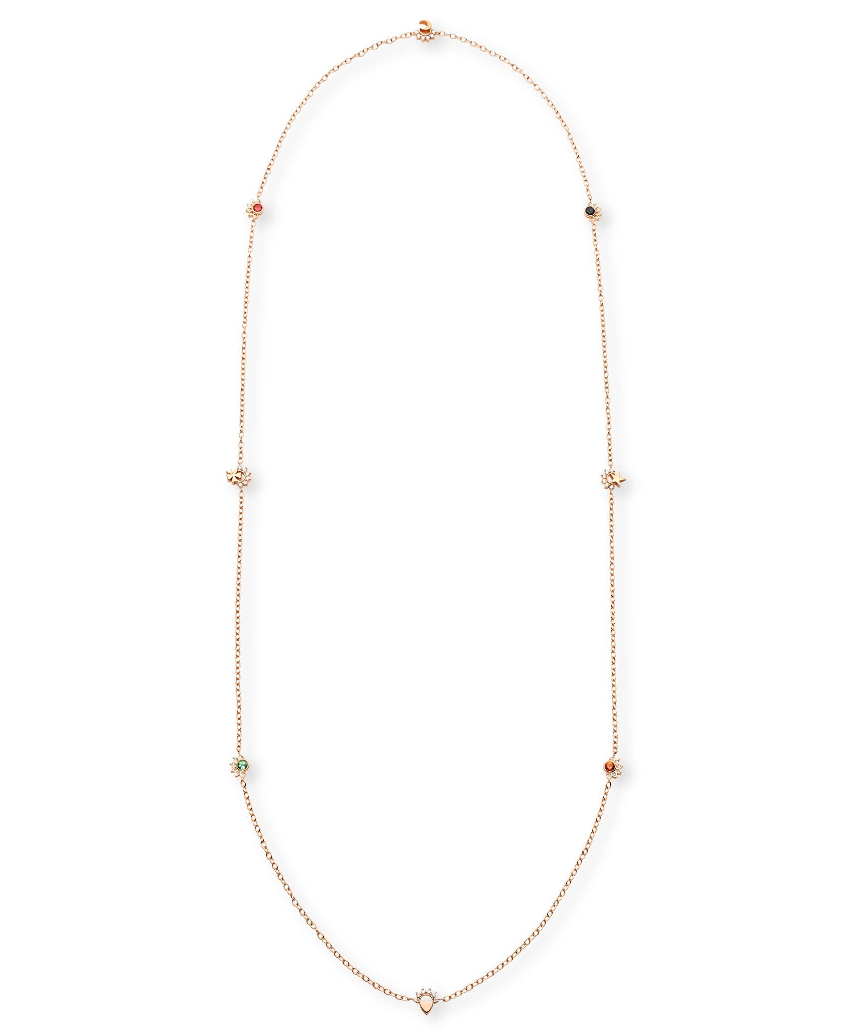 Multi-Motifs Long Necklace: Discover Luxury Fine Jewelry | Nouvel Heritage || Rose Gold