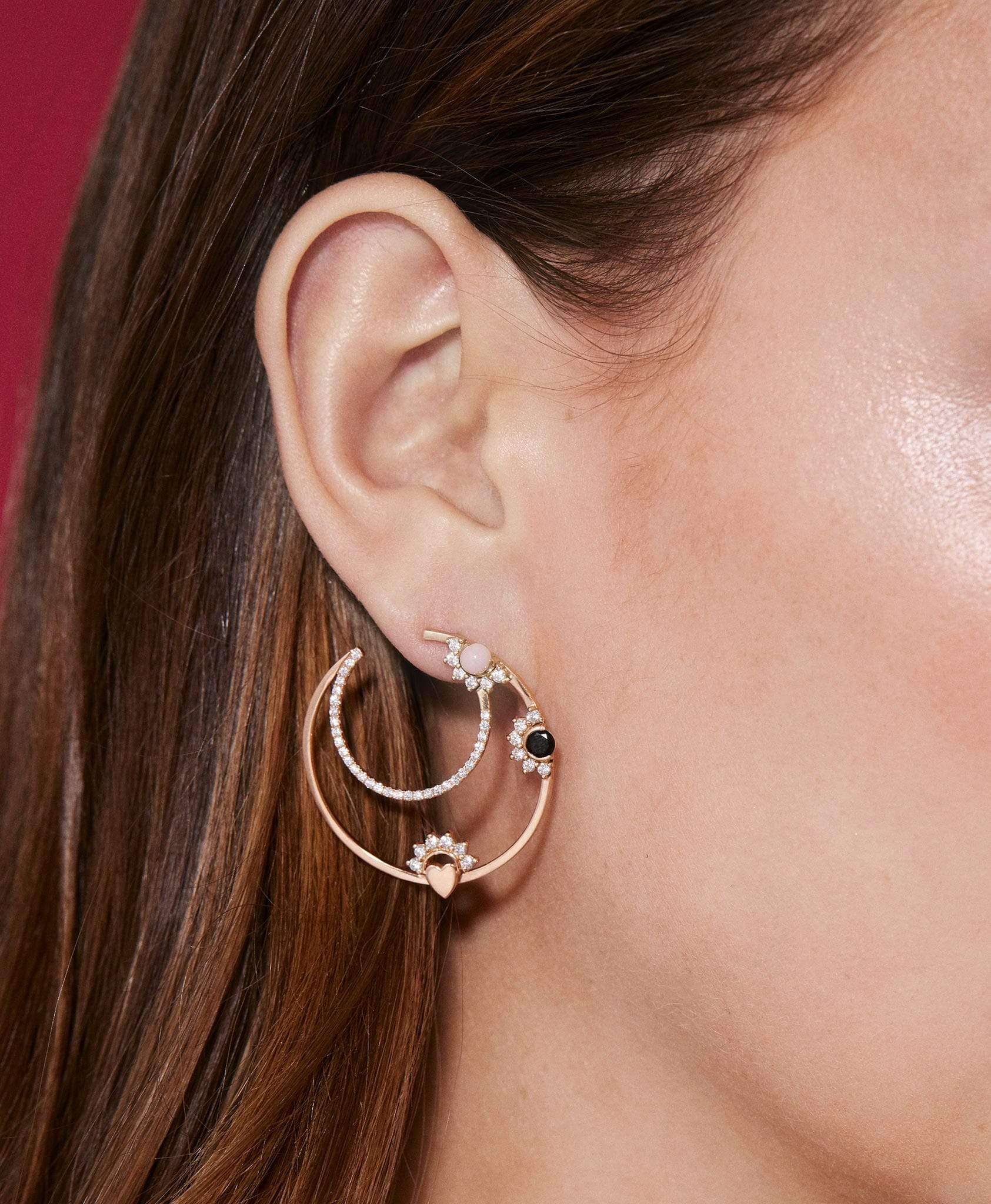 Opal Motifs Hoops: Discover Luxury Fine Jewelry | Nouvel Heritage