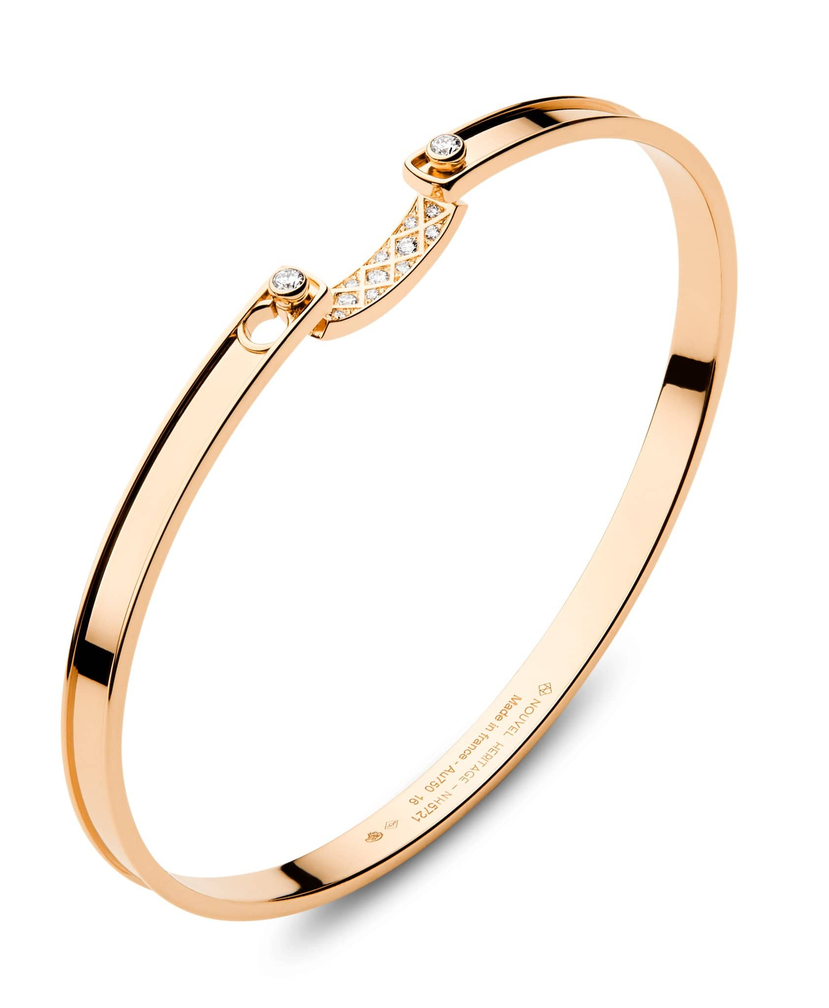Parisian Stroll Mood Bangle: Discover Luxury Fine Jewelry | Nouvel Heritage || Rose Gold