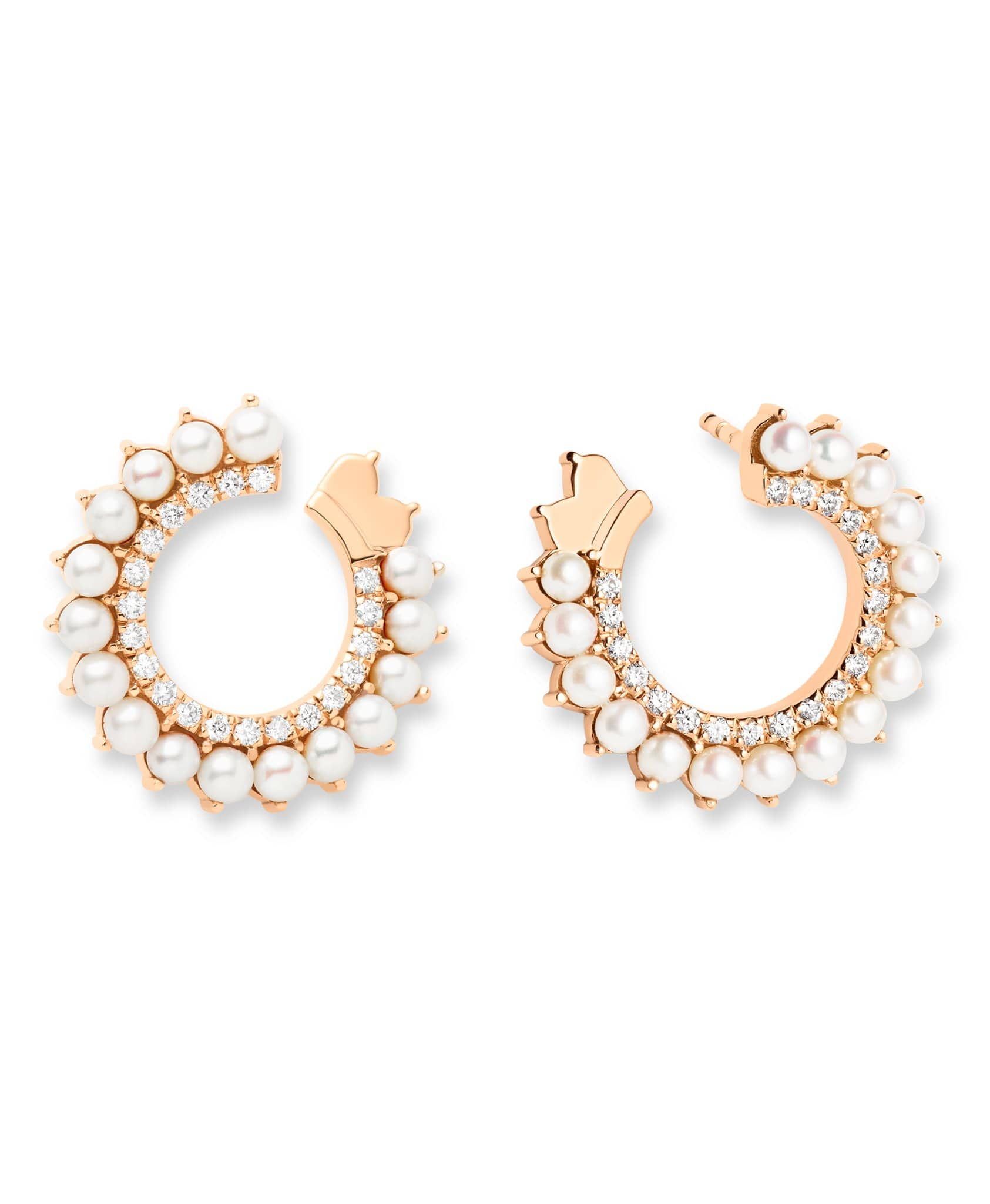 Pearl Earrings: Discover Luxury Fine Jewelry | Nouvel Heritage || Rose Gold