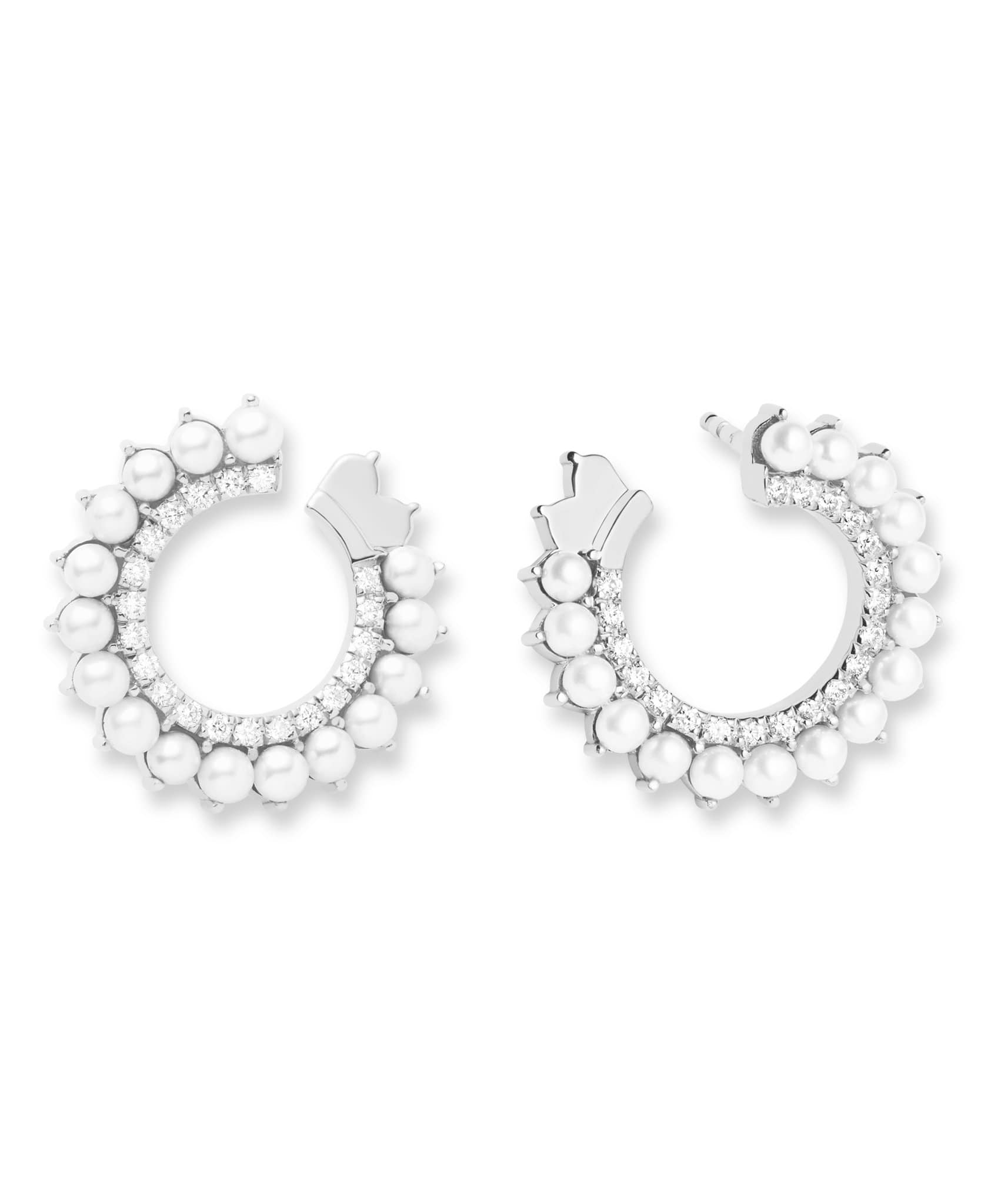 Pearl Earrings: Discover Luxury Fine Jewelry | Nouvel Heritage || White Gold
