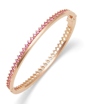 Pink Sapphire Claude Bangle: Discover Luxury Fine Jewelry | Nouvel Heritage