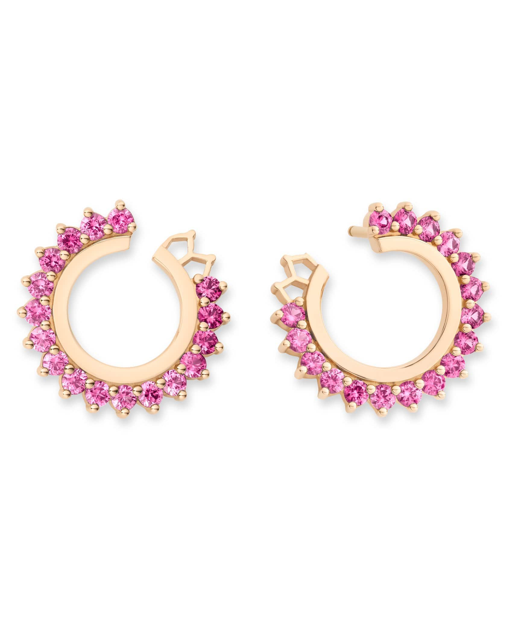 Pink Sapphire Earrings: Discover Luxury Fine Jewelry | Nouvel Heritage || Rose Gold