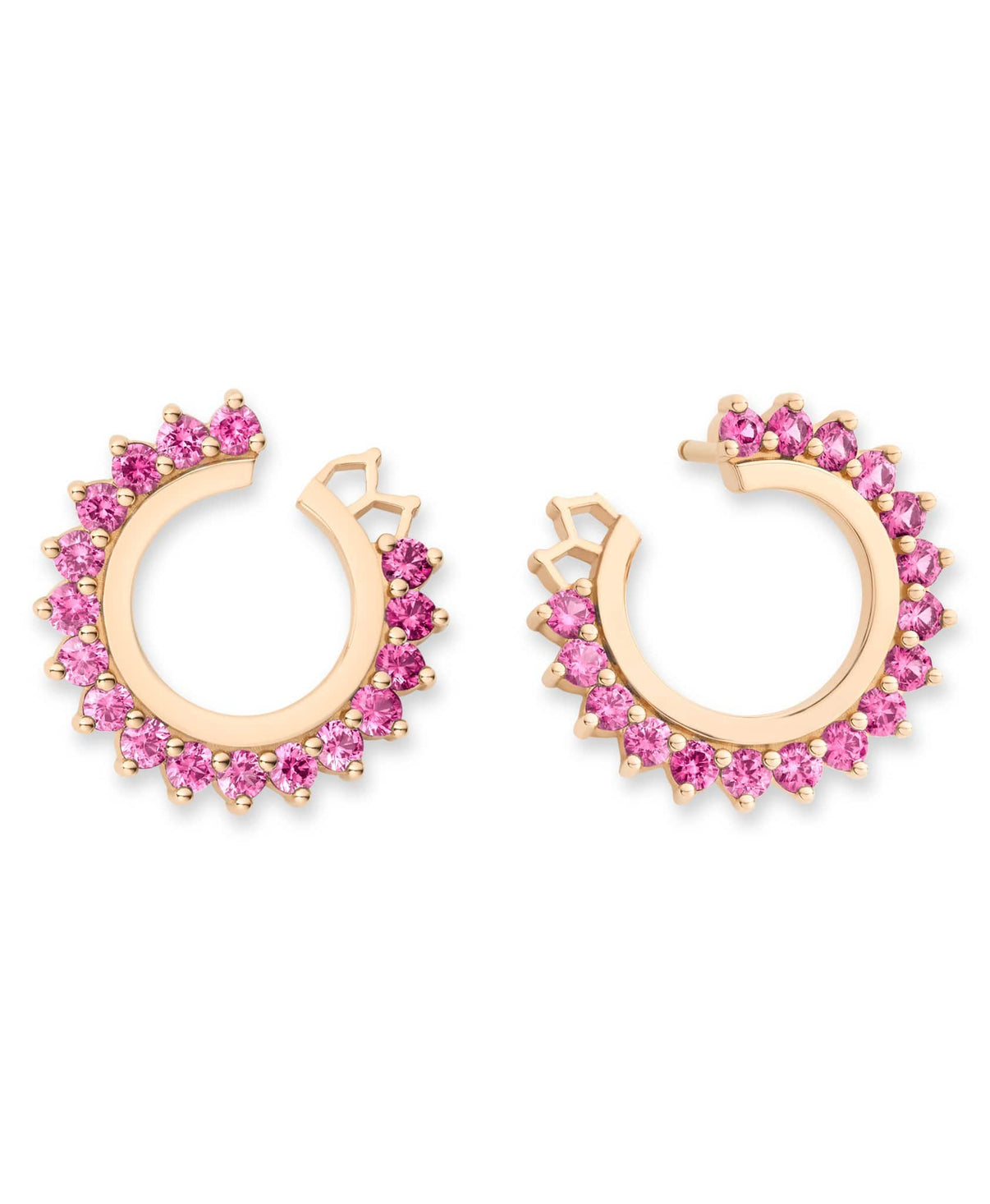 Pink Sapphire Earrings: Discover Luxury Fine Jewelry | Nouvel Heritage || Yellow Gold