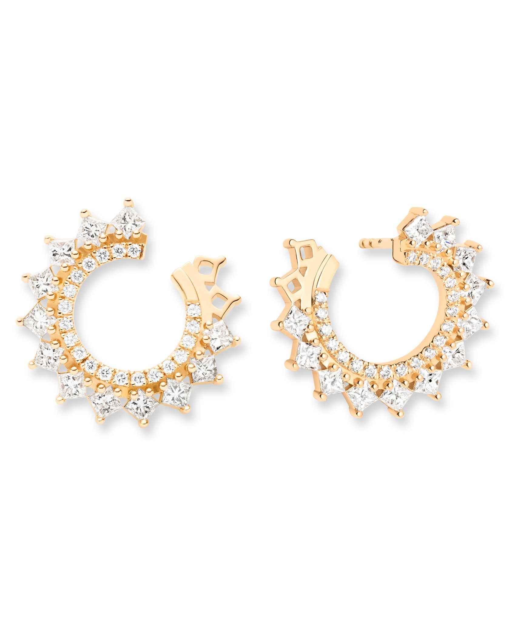 Princess Diamond Earrings: Discover Luxury Fine Jewelry | Nouvel Heritage || Yellow Gold