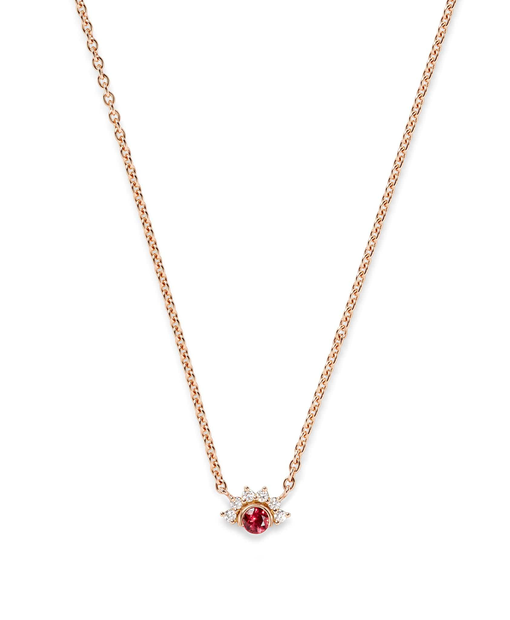 Red Spinel Pendant: Discover Luxury Fine Jewelry | Nouvel Heritage || Rose Gold
