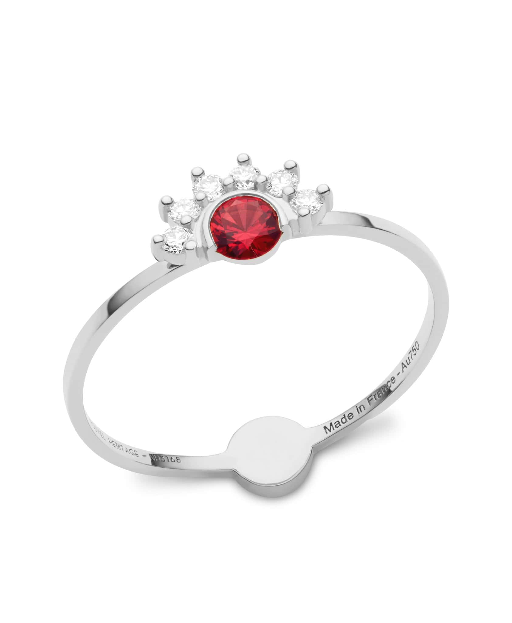 Red Spinel Ring: Discover Luxury Fine Jewelry | Nouvel Heritage || White Gold