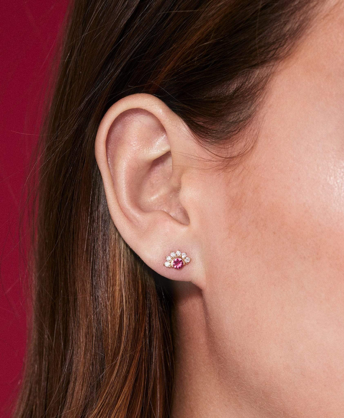 Red Spinel Studs: Discover Luxury Fine Jewelry | Nouvel Heritage || White Gold