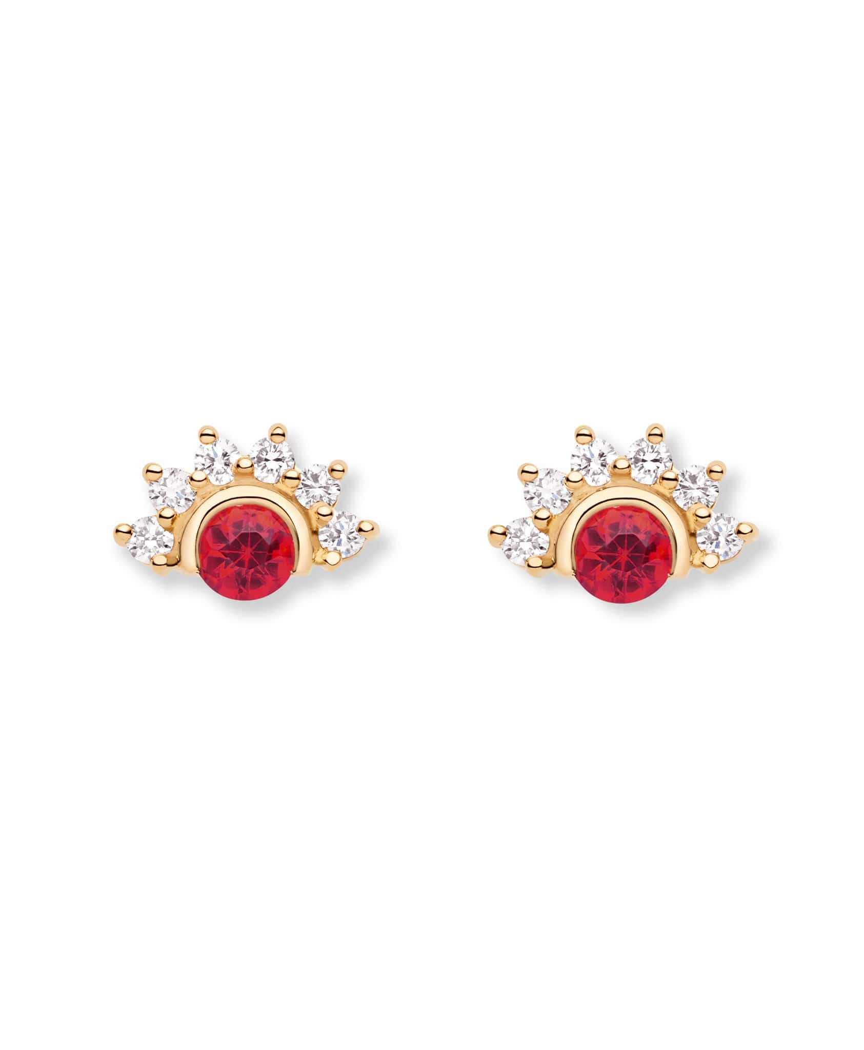 Red Spinel Studs - Nouvel Heritage
