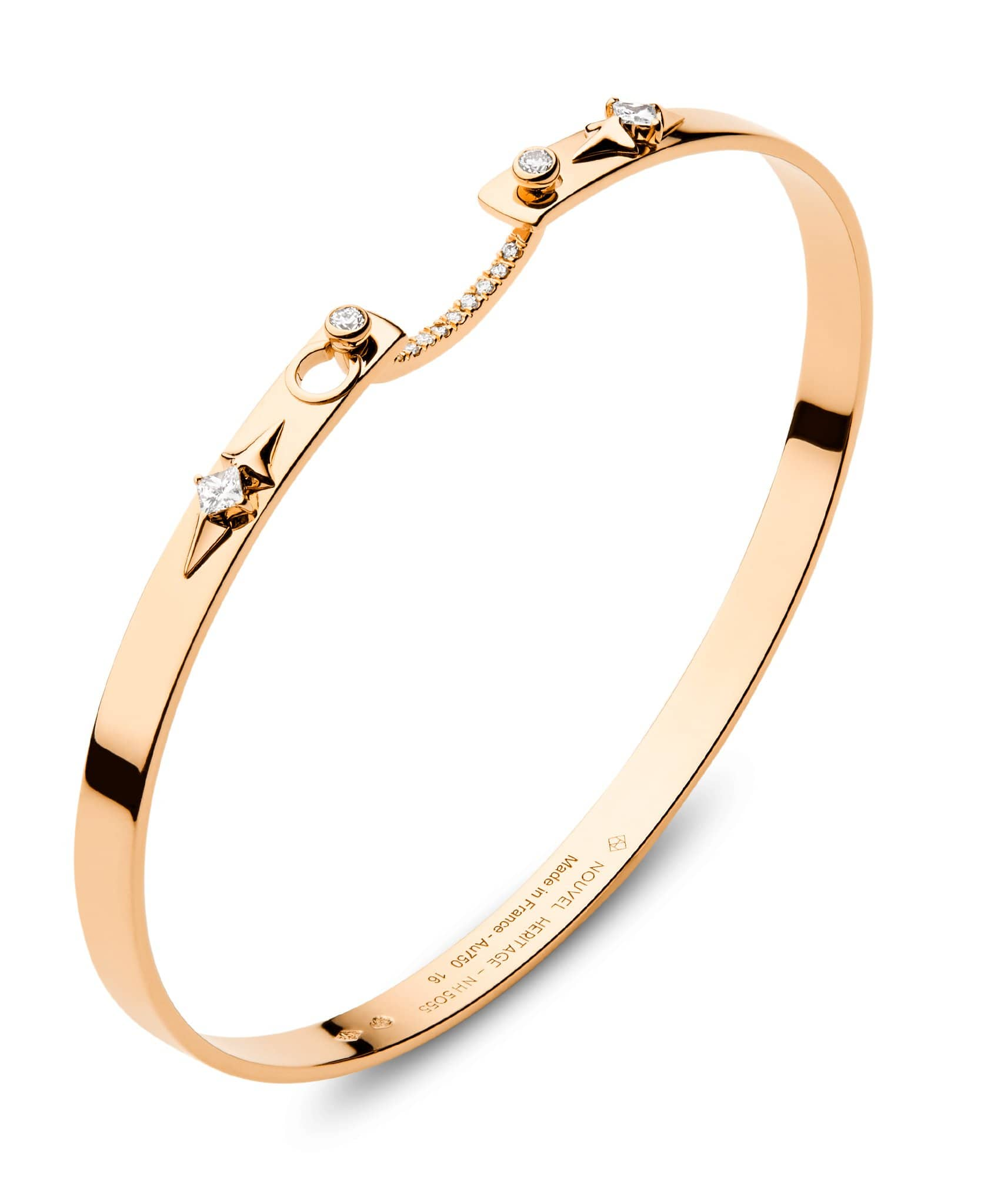 Rêverie Mood Bangle: Discover Luxury Fine Jewelry | Nouvel Heritage || Rose Gold