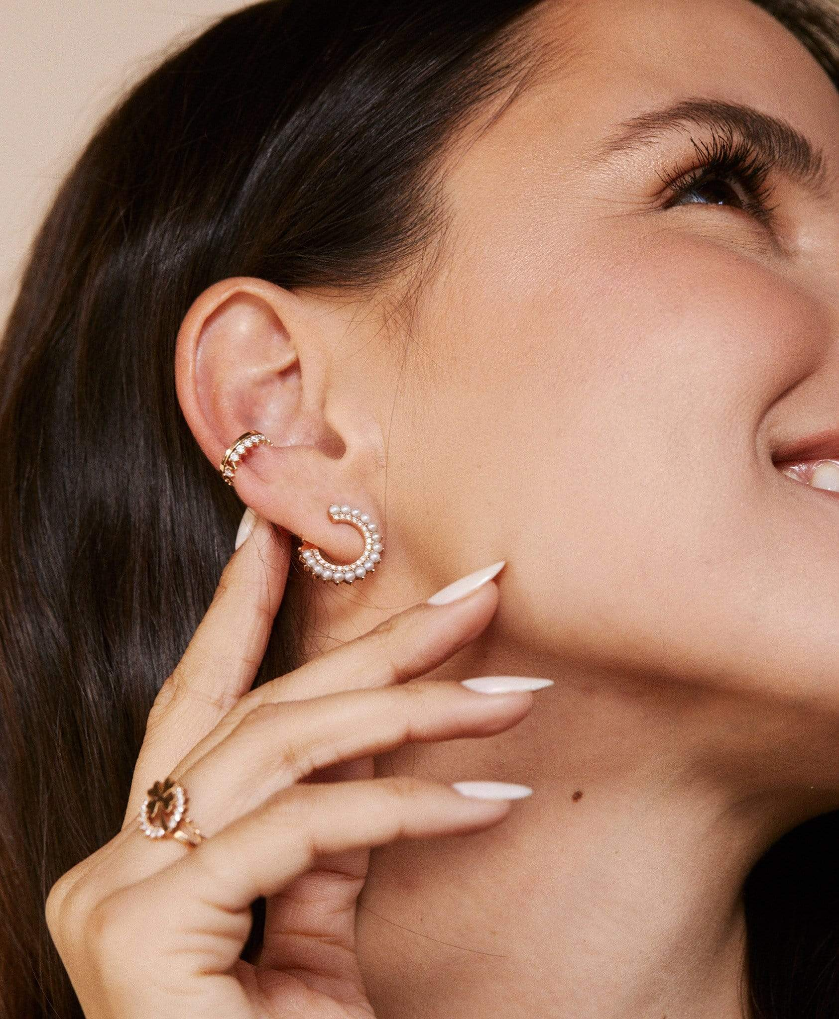 Simple Full Diamond Ear Cuff: Discover Luxury Fine Jewelry | Nouvel Heritage