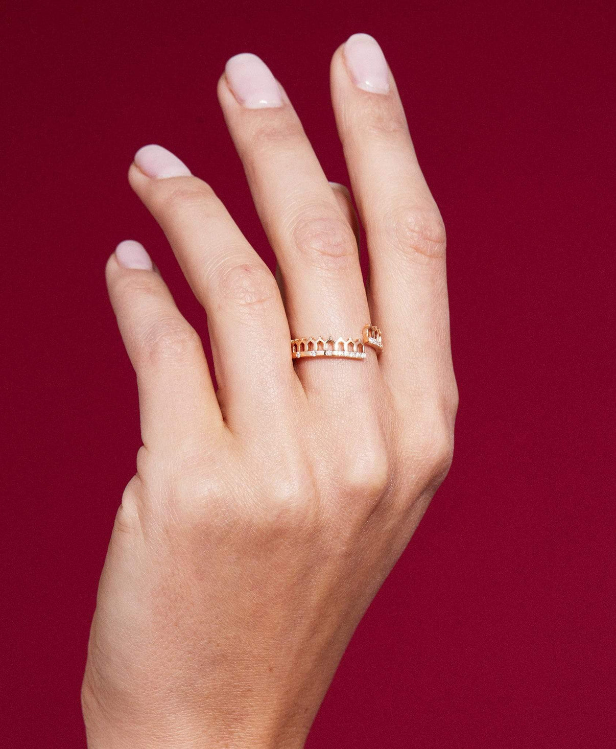 Simple Lace Some Diamonds Ring: Discover Luxury Fine Jewelry | Nouvel Heritage || Yellow Gold