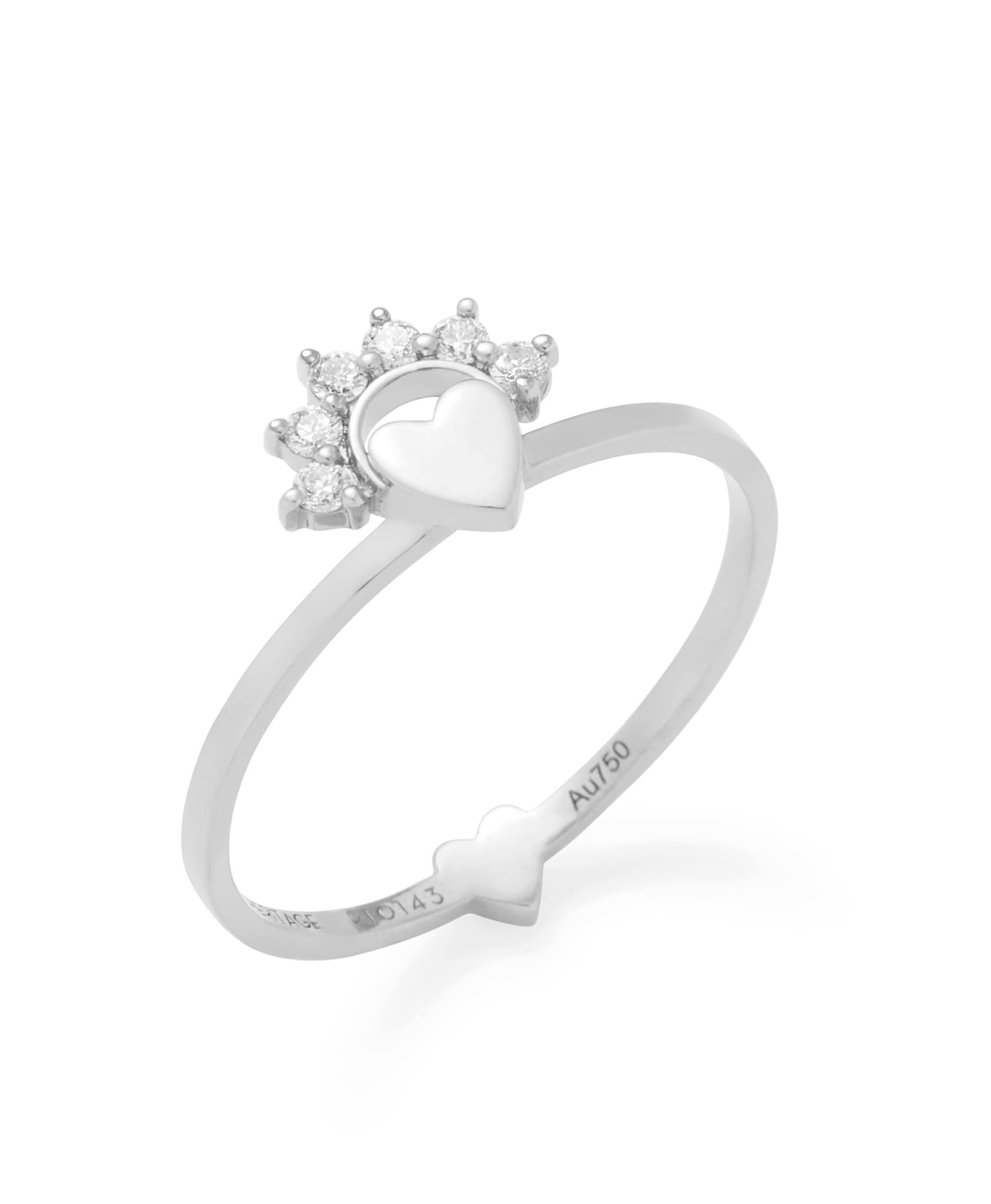 Small Love Ring: Discover Luxury Fine Jewelry | Nouvel Heritage || White Gold