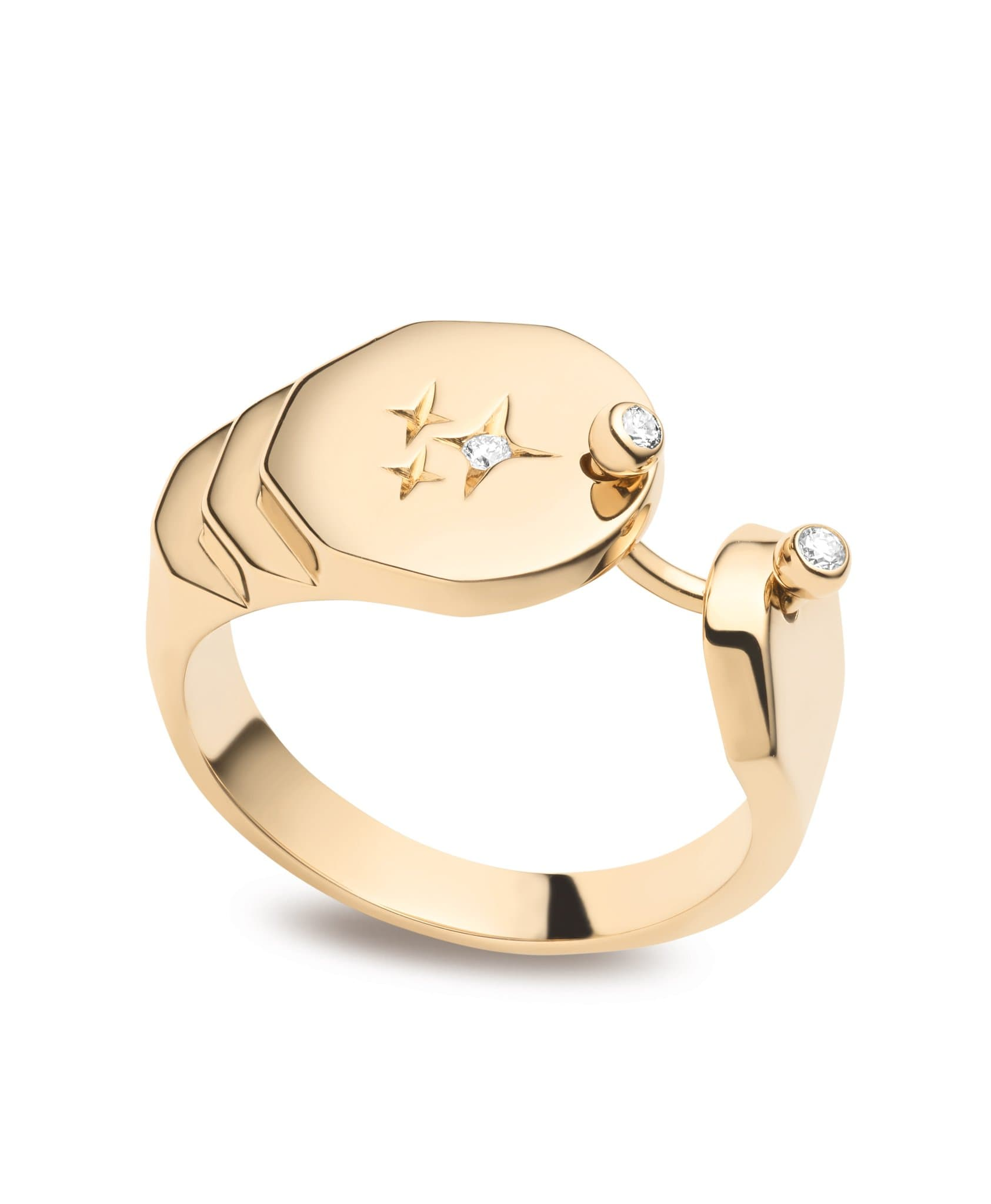 Sparkles Gold Ring - Nouvel Heritage