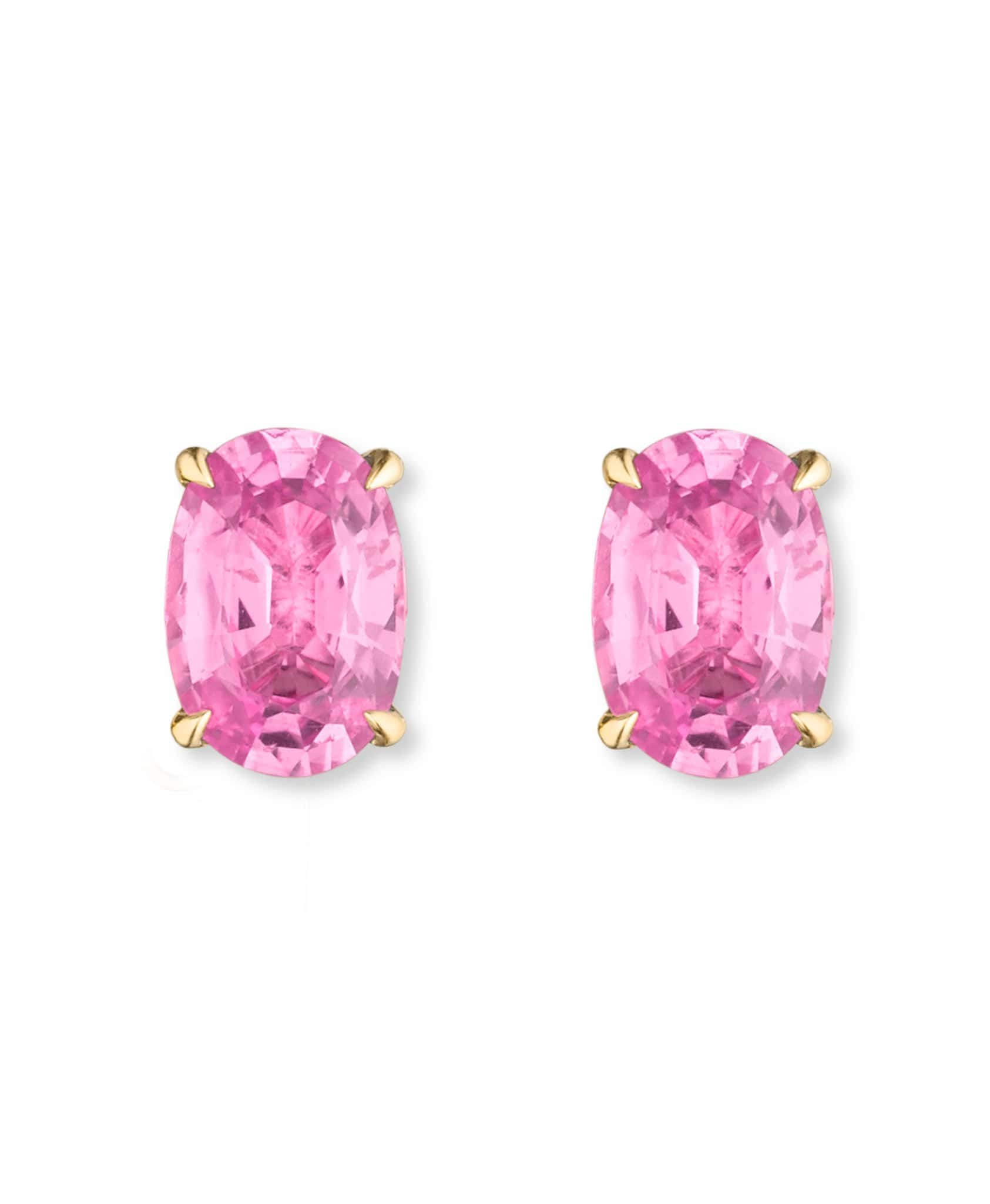 Tara Pink Tourmaline Studs: Discover Luxury Fine Jewelry | Nouvel Heritage || Yellow Gold