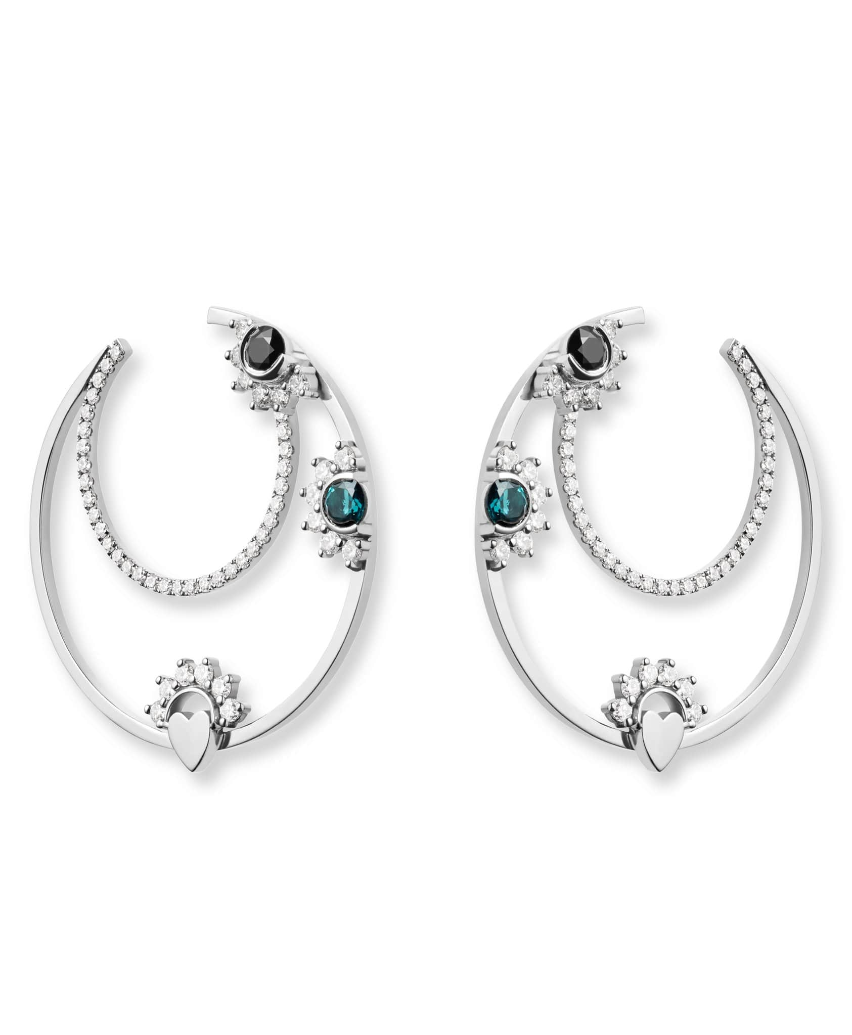 Tourmaline Motifs Hoops - Nouvel Heritage