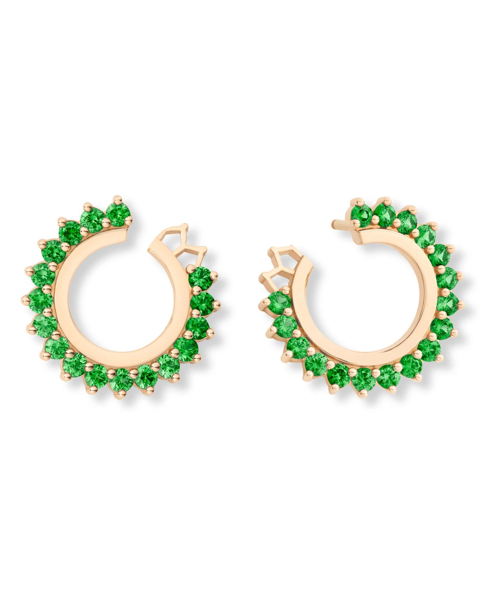 Tsavorite Earrings: Discover Luxury Fine Jewelry | Nouvel Heritage || Rose Gold