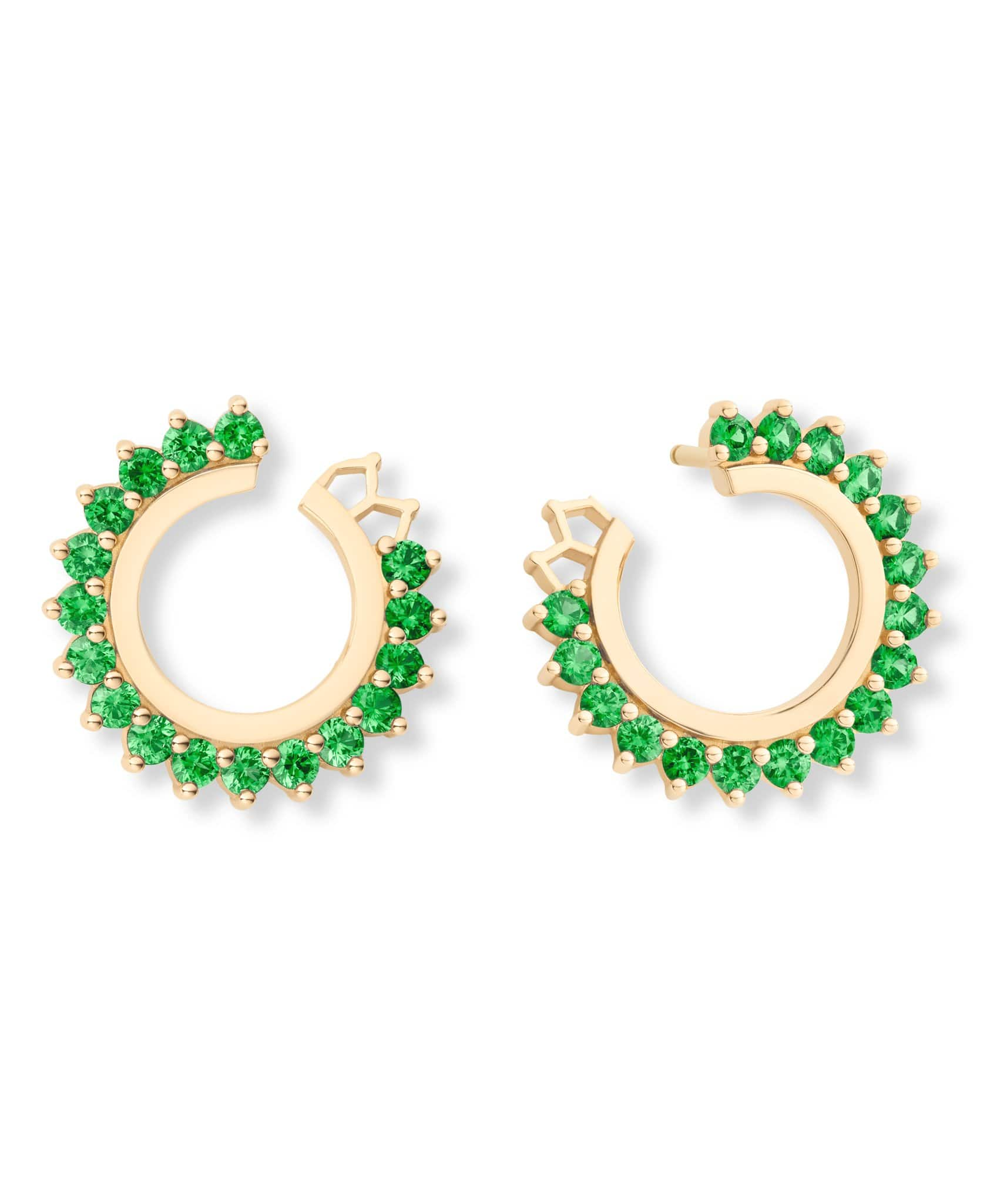 Tsavorite Earrings: Discover Luxury Fine Jewelry | Nouvel Heritage || Yellow Gold