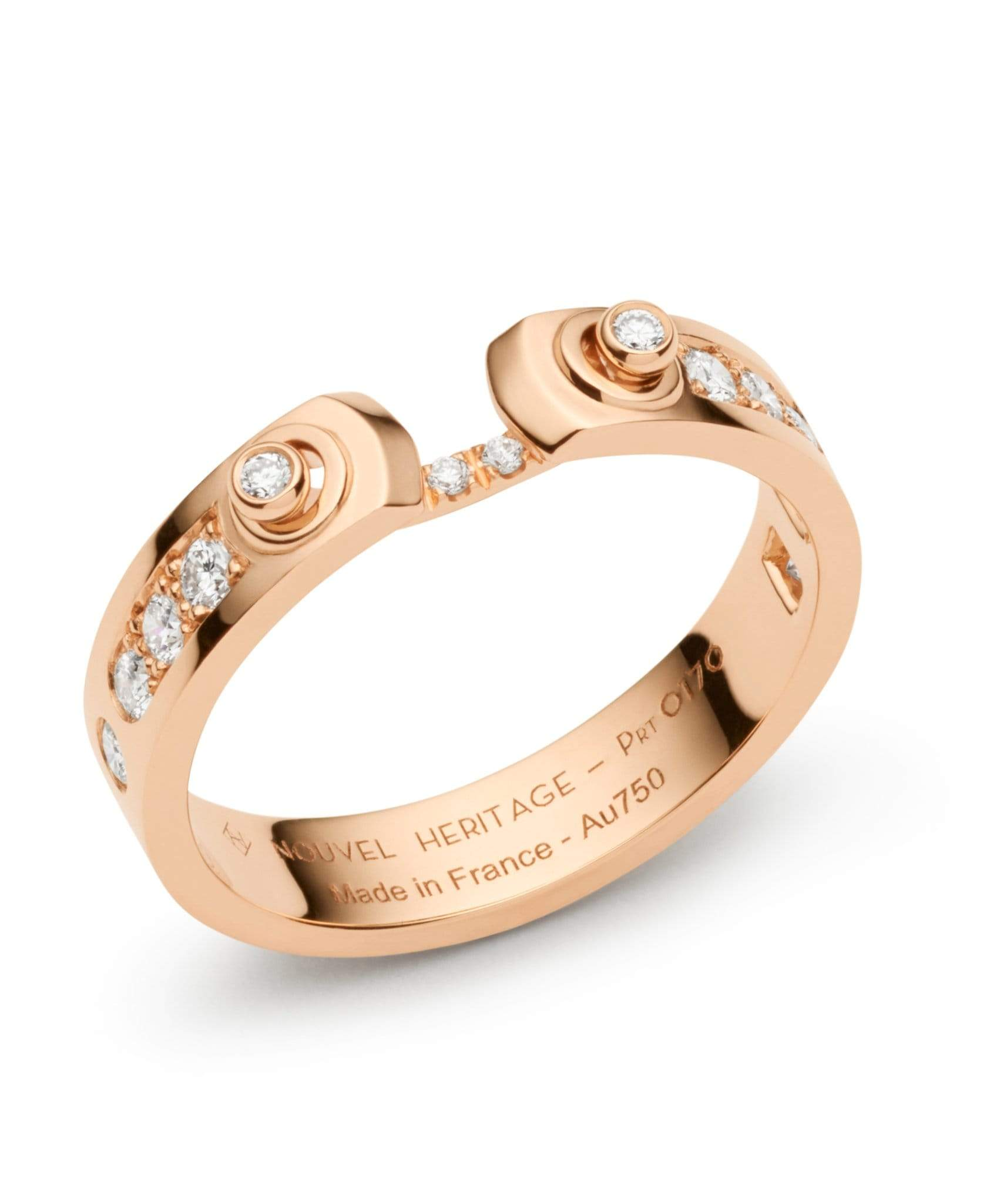 Tuxedo Mood Ring: Discover Luxury Fine Jewelry | Nouvel Heritage || Rose Gold