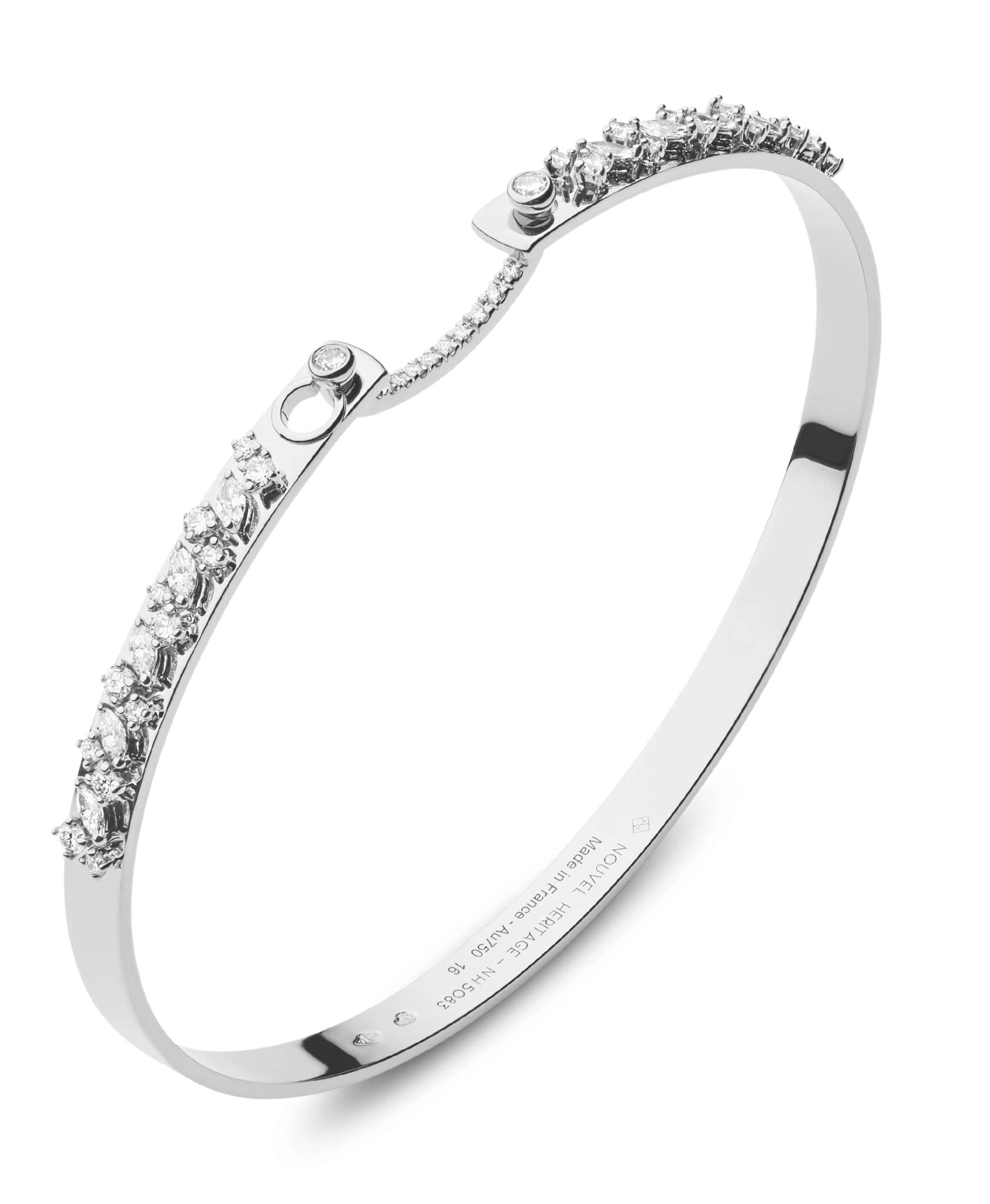 Under the Stars Mood Bangle: Discover Luxury Fine Jewelry | Nouvel Heritage || White Gold