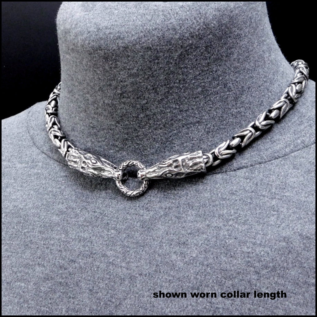Guardian Crocodiles Superior Quality 9mm Borobudur Design Chain Necklace