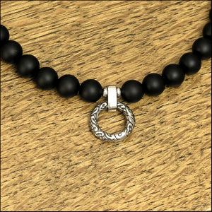 Discreet Beaded Day Collar Multipurpose Beaded Necklace with Matte Black Onyx Beads