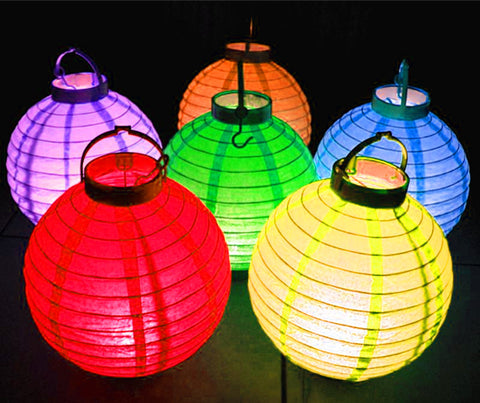 10 white battery operated led paper lanterns lanterns and more