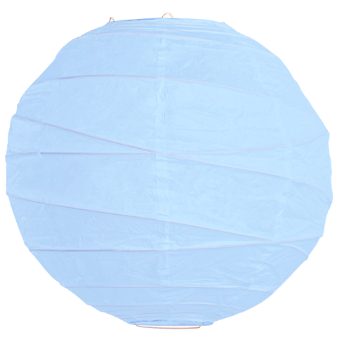 Baby Blue Criss Cross Paper Lanterns