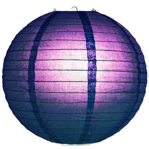 Blue Violet Hybrid Ribbed Paper Lanterns