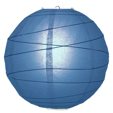 Blue Criss Cross Paper Lanterns.