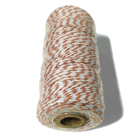 Brown and White Bakers Twine