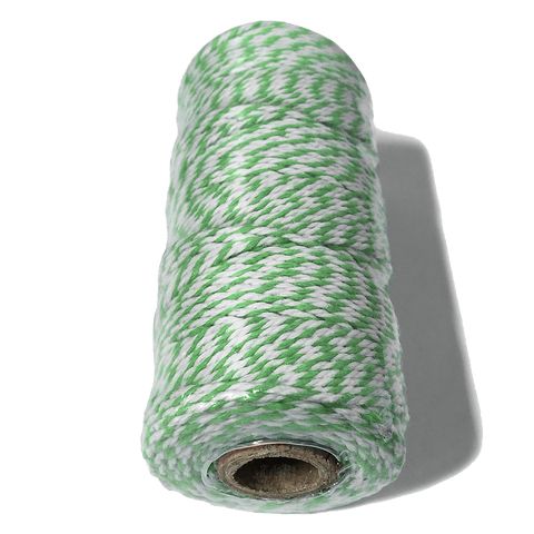 Green and White Bakers Twine.