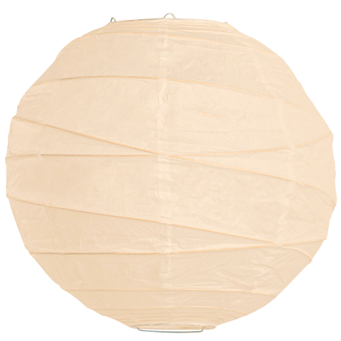 Ivory Criss Cross Paper Lanterns