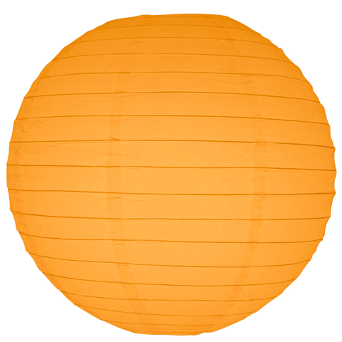 Light Orange Round Paper Lanterns