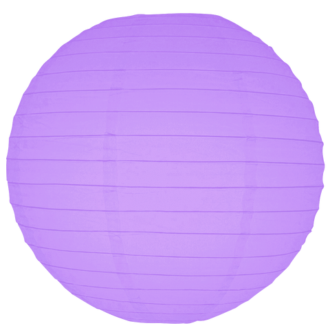 Purple Ribbed Paper Lantern