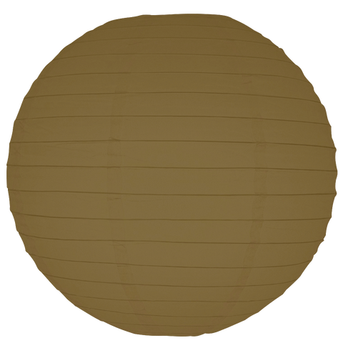 Light Brown Round Paper Lanterns