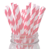 Light Pink Striped 25pc Paper Straws.