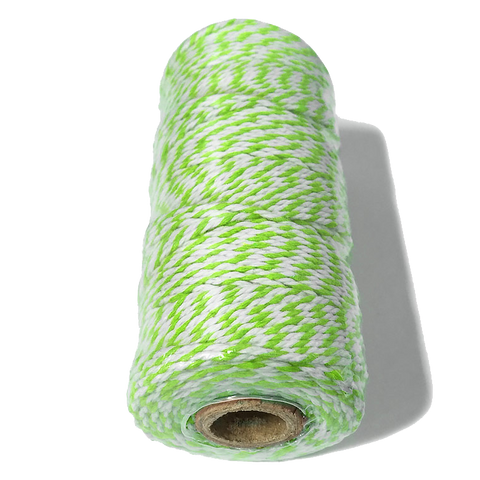Lime Green and White Bakers Twine