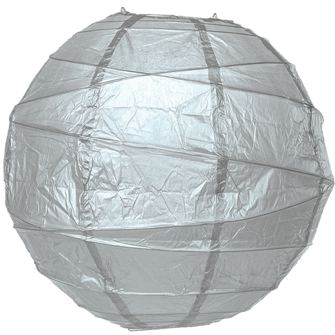 Metallic Silver Criss Cross Paper Lanterns.