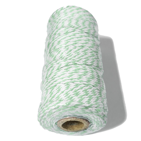 Mint and White Bakers Twine.