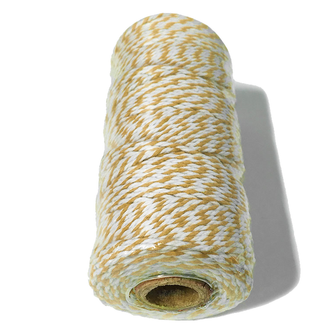 Mustard and White Bakers Twine