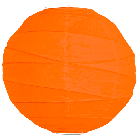 Orange Criss Cross Paper Lanterns