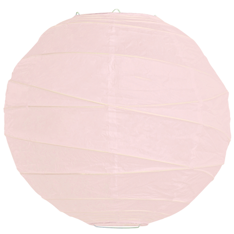 Pale Pink Criss Cross Paper Lanterns.