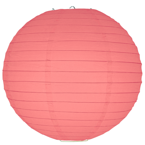 Rose Pink Ribbed Paper Lanterns