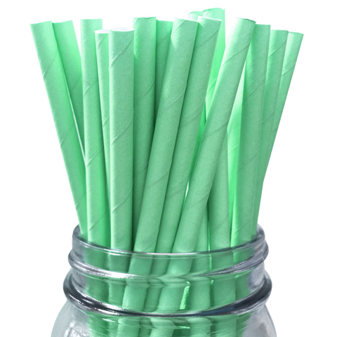 Seafoam Solid 25pc Paper Straws